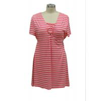 China Women'S Casual Cotton Summer Dresses , Striped Maternity Midi Dress Mini Yard Dye on sale