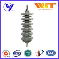 China MOA Type Lightning Surge Arrester Silicon Rubber Material ISO-9001 Certified 30KV 5KA wholesale
