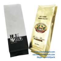 China custom design colorful printing coffee packing / packaging quad seal bag with one way degassing valve on sale
