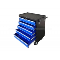 "China Movable Blue 5 Drawer 24"" Rolling Tool Box Tool Cabinet Trolley Cart wholesale"