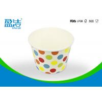 China 12 Oz Water Insulated Custom Paper Ice Cream Cups , Disposable Ice Cream Cups on sale