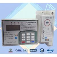 China 35mm Din Rail Electric Meter Power Line Carrier Prepayment Electricity Meter wholesale