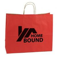 China Promotional Custom Printed Paper Shopping Bags With Cotton String Handles wholesale