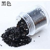 China Black Glitter for Nail art Decoration wholesale