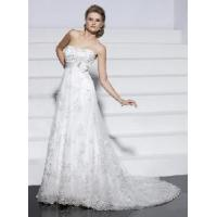 China Sexy A-Line Strapless Lace Bridal Wedding Dresses wholesale