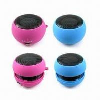 China Portable Rechargeable USB Mini Speakers for MP3, MP4 and Laptop wholesale