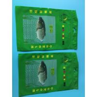 China Custom Printed Green 3 Sided Sealed Composite Fish Bag With Transparent Window In Front wholesale