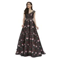 China Normal V Neck Middle Eastern Style Dresses / Long Prom Party Dresses on sale
