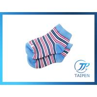 China Custom Striped Colorfull Organic Cotton Rib Knit Non Skid Baby Ankle Socks on sale