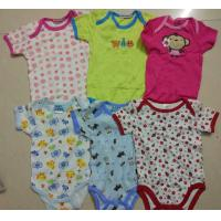 China kids mixed in stock assorted short sleeve baby boxer boy girl cotton summer onesie Singapore cheap rompers wholesale