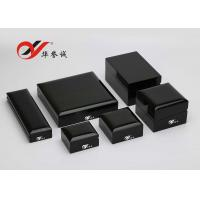 China Steel Painting Wooden Jewellery Box Convenient Maintain Wooden Wedding Ring Box wholesale