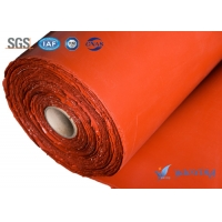 China 3300g/m2 Outdoor Extending Silicone Coated Glass Fabric 2.0mm wholesale