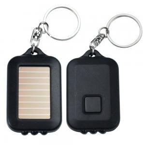 Buy cheap Mini Solar LED Emergency Flashlight , High Powered Flashlight With Keychain from wholesalers