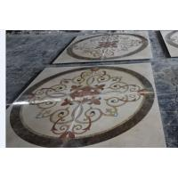 China Marble Medallion water jet pattern Design Modern Flower Pattern Marble Water Jet Designs For Indoor Floor Decor wholesale