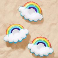 China Mini Rainbow Cloud Party Inflatable Drink Holder Plastic Vinyl Material wholesale