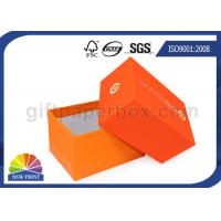 China Fashion 2 Piece Full Color Printed Setup Boxes Jewelry Gift Box Orange wholesale