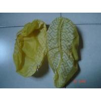 China CE ISO Yellow / Blue Shoe Covers Disposable Anti Skid Lightweight One Time Use on sale