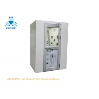 China Single Person Cleanroom Air Shower With Aluminum Swing Doors wholesale