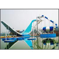 China Water Park Equipment Wave Slide, 11m Height Fiberglass Water Slides for Outdoor Aqua Park on sale