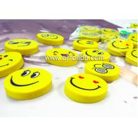 China PVC cartoon cute mini round emoticons eraser for promotional gifts on sale