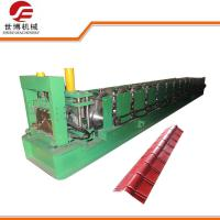 China PPGI Steel Color Coated Roofing Ridge Cap Roll Forming Machine With 15 Rows Rollers wholesale