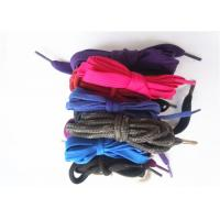 China Nylon Waxed Flat Shoe Laces with Plastic Tips , High Tenacity wholesale