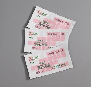 China custom logo top quality matte/glossy three side heat sealing plastic PE medicine bag for reagent on sale