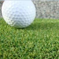 China Low cost anti-UV permeable water stitch rate 170 stitches per meter color green 14mm height  synthetic turf for golf on sale