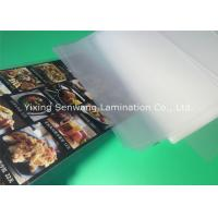 China Gloss A5 Laminated Pouches , Heat Seal Laminating Pouches 150 Micron Thickness on sale