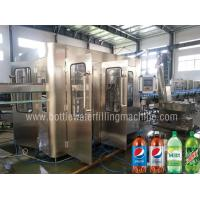 Quality CE SGS Carbonated Drink Filling Machine / Soft Drink , Sparkling Water Bottling Plant for sale