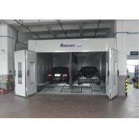 China Combined Inner Ramp Downdraft Spray Booth , Custom Paint Booth With LED Riello Burner wholesale