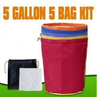 China Greenhouse 5 Gallon 5 Bags Essence Extractor Bubble Ice Bag Herbal Hash Bags With Pressing Screen wholesale
