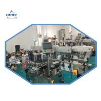 China Automatic Double Sided / Top And Bottom Labeling Machine For Round Cylinder Bottles wholesale
