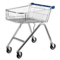 China American Style 71L UK Shopping Cart With Base Grid , Grocery Shopping Trolley wholesale