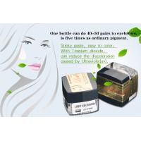 China Safety Dark ASH Brown Eyebrow Tattoo Pigment , Tattoo Ink Colors on sale