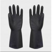 China heave duty latex black industrial rubber glove wholesale