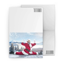 China Merry Christmas Custom Lenticular Printing Greeting Card With Santa Claus 3D Effect on sale