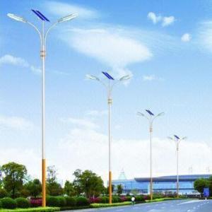 China Solar Streetlights with Dual Arm, High brightness LED and Energy-saving wholesale