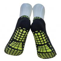 China Knitted Trampoline Grip Socks / Polyester Sweat Absorbent Anti - Skid Yoga Socks For Adults on sale