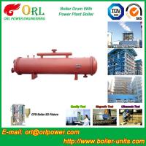 Floor Standing CFB Boiler Drum Non Toxic , Steam Drum In Boiler