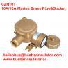 China 10A/16A marine brass plug&socket CZH101 waterproof socket handware in bulk wholesale
