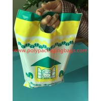 China W14 X L28cm Die Cut Handle Bags  / Hand Hole Shopping Plastic Travel Bags wholesale