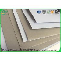 China 100 x 70 cm 170gsm 180gsm 230 grs / M2  white side coated duplex board grey back suitable for inject print on sale