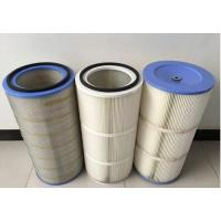 China HEPA Air Pleated Filter Cartridge For Dust Collector 0.2 Micron Porosity wholesale