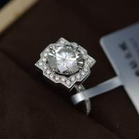 China 2cts Moissanite Jewelry Ring Round Shape 8mm Size OEM / ODM Acceptable wholesale