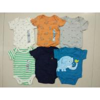 China Malaysia baby outfits Cheap brand clothes stock Gap infant cotton short sleeve pattern rompers cute bodysuits jumpsuits wholesale