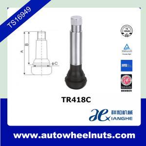 China TR418c Chrome Truck Tire Valve Stem /  51mm 90 Degree Car Tyre Valve wholesale