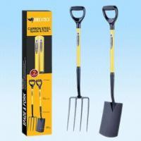 China Two-Piece Garden Tools Set with Fiberglass Handle in Colored Display Box wholesale