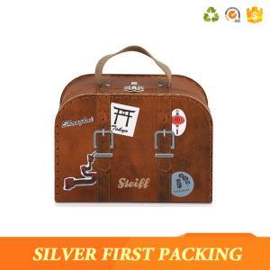 China Silverfirst Round Mini Suitcase Gift Custom Cardboard Box Baby Birthday Gift on sale