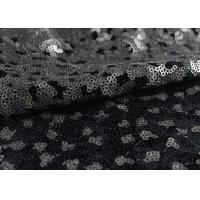 China Golden Black Sequin Lace Fabric With 3D Embroidery Fabric For Party Gown Dresses wholesale